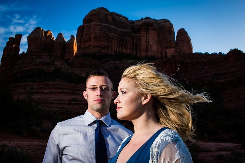 Sedona engagement photographer, Cathedral Rock engagement photos, Rebekah Sampson Photography, Sedona wedding photographer, Sedona engagement photographer